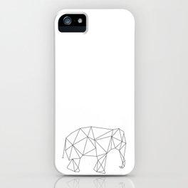 elephant triangle  iPhone Case