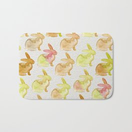 Watercolor Bunnies 1G by Kathy Morton Stanion Bath Mat