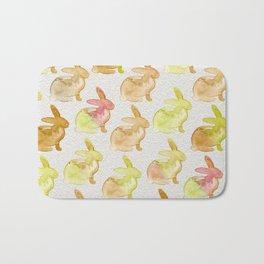 Watercolor Bunnies 1G by Kathy Morton Stanion Bath Mat