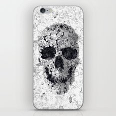 Doodle Skull BW iPhone Skin