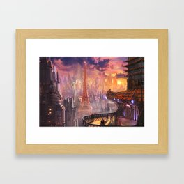 Neo Paris Framed Art Print