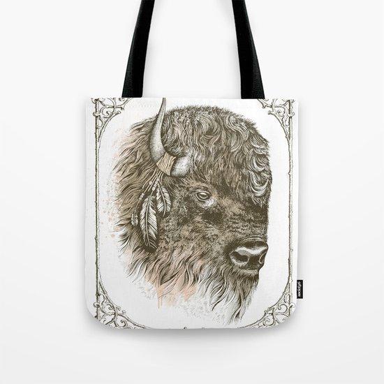 Portrait of a Buffalo Tote Bag
