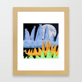 Long Camel Framed Art Print