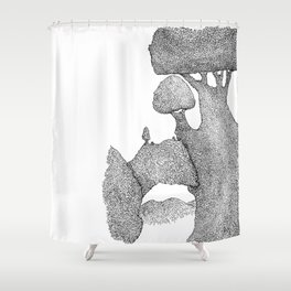 Giant tree view Shower Curtain