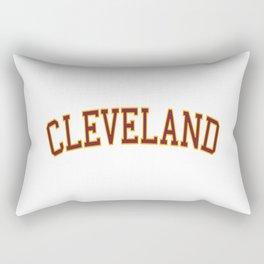 Cleveland Sports College Font Rectangular Pillow