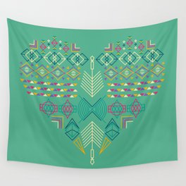 Aztec Heart Wall Tapestry