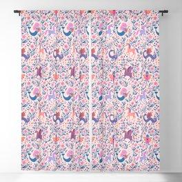 Fairy Folk Floral Blackout Curtain