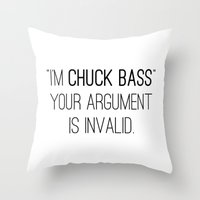 gossip girl Throw Pillows featuring GOSSIP GIRL | I'm Chuck Bass by fepersiani