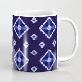Blue Diamond Pattern Coffee Mug