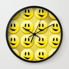 Smiley Smileys! Wall Clock