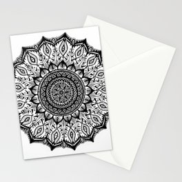 Mistletoe-Black Stationery Cards