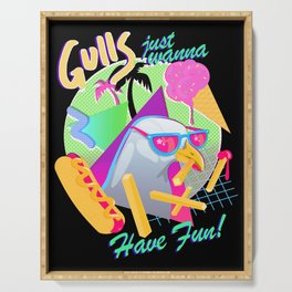 Gulls just wanna have fun Serving Tray