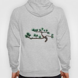 green pine tree painting Hoody