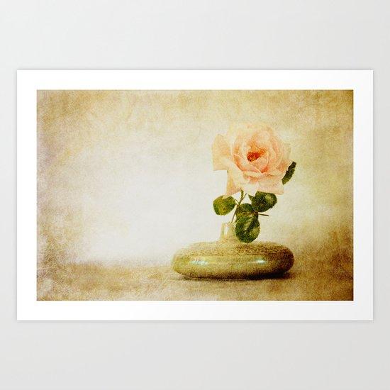 Vintage Rose  - JUSTART © Art Print