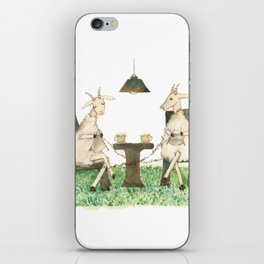 Sheep knitting iPhone Skin