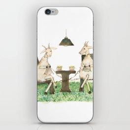 Sheep knitting iPhone Skin
