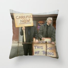 Down With Careful Father Ted Throw Pillow