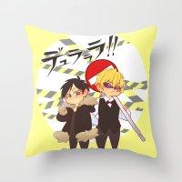 durarara Throw Pillows featuring Drrr!! by psych0tastic