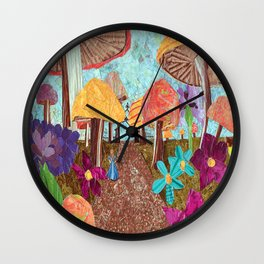 Alice in the Forest Wall Clock