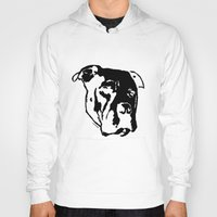 pitbull Hoodies featuring COACH - BLACK by Kirk Scott