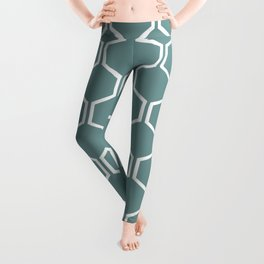 BEAUTY OF NATURE - bee , blue , hexagon Leggings