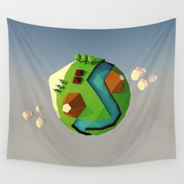 My little planet Wall Tapestry