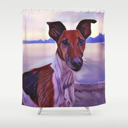 The Ibizan Hound Shower Curtain