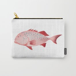 Watercolor Illustration of Snapper Carry-All Pouch