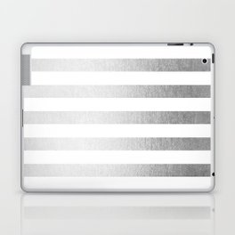 Simply Striped Moonlight Silver Laptop & iPad Skin