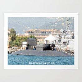 USS JAMES K. POLK (SSBN-645) Art Print