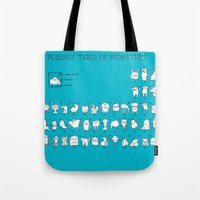 chemistry Tote Bags featuring Monstrous Chemistry by maudie&ma