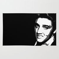 elvis Area & Throw Rugs featuring Elvis by DRMdesign