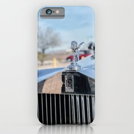 Vintage Car // Rolls Blue Paint Hood Ornament Silver Grille Classic iPhone Case
