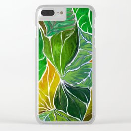 Dancing leaves Clear iPhone Case