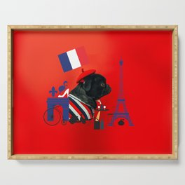 Proud Pug from Paris Serving Tray