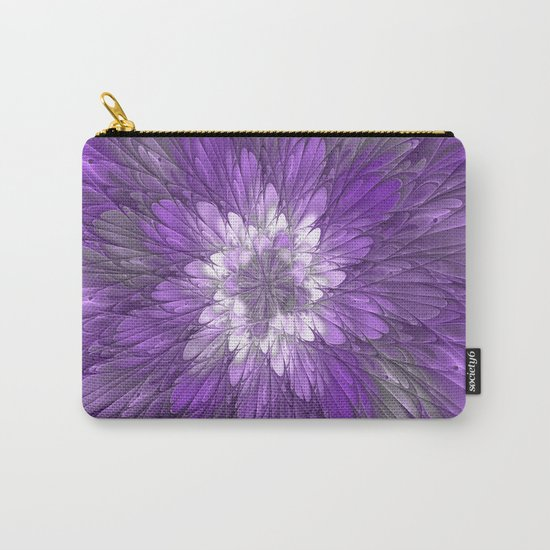 Psychedelic Purple Flower, Fractal Art Carry-All Pouch