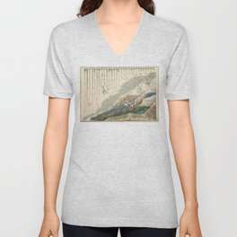 1854 Comparative Lengths of Rivers and Heights of Mountains Unisex V-Neck