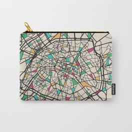 Colorful City Maps: Paris, France Carry-All Pouch