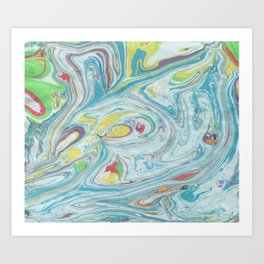 Colorful Marble Art Print