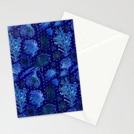 Blue Australian Native Floral Print Stationery Cards