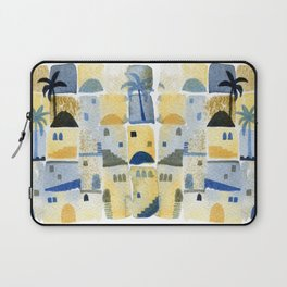 Morning Middle Eastern Town Watercolor Laptop Sleeve