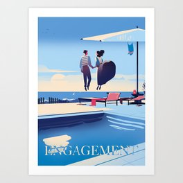 Engagement Art Print