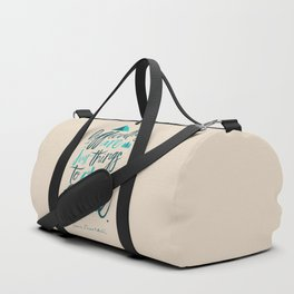 Shackleton quote on difficulties, illustration, interior design, wall decoration, positive vibes Duffle Bag