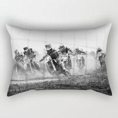 Motocross black white Rectangular Pillow