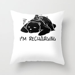 Bear Panda Lazy sleeping Nothing doing Couch gift Throw Pillow