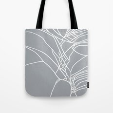 Cracked White on Grey Tote Bag