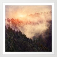 sunrise Art Prints featuring In My Other World by Tordis Kayma