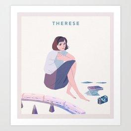 therese / full circle Art Print