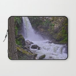 Summer Snow Melt - Waterfall & Forest Laptop Sleeve