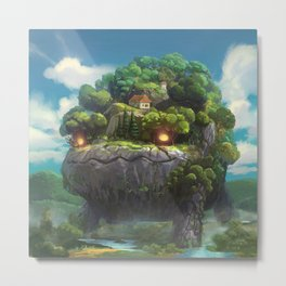 Moving Forest Metal Print